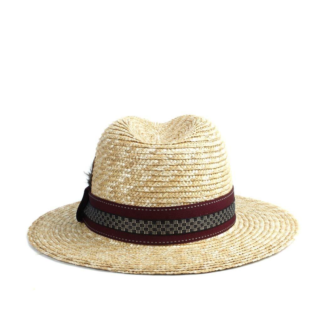 Hats Beach Sun Hat Womens /& Mens Sun Hat Straw Panama Plaid Decoration Feather Fashion Beach Sun Hat Hat Cap GeorgeB