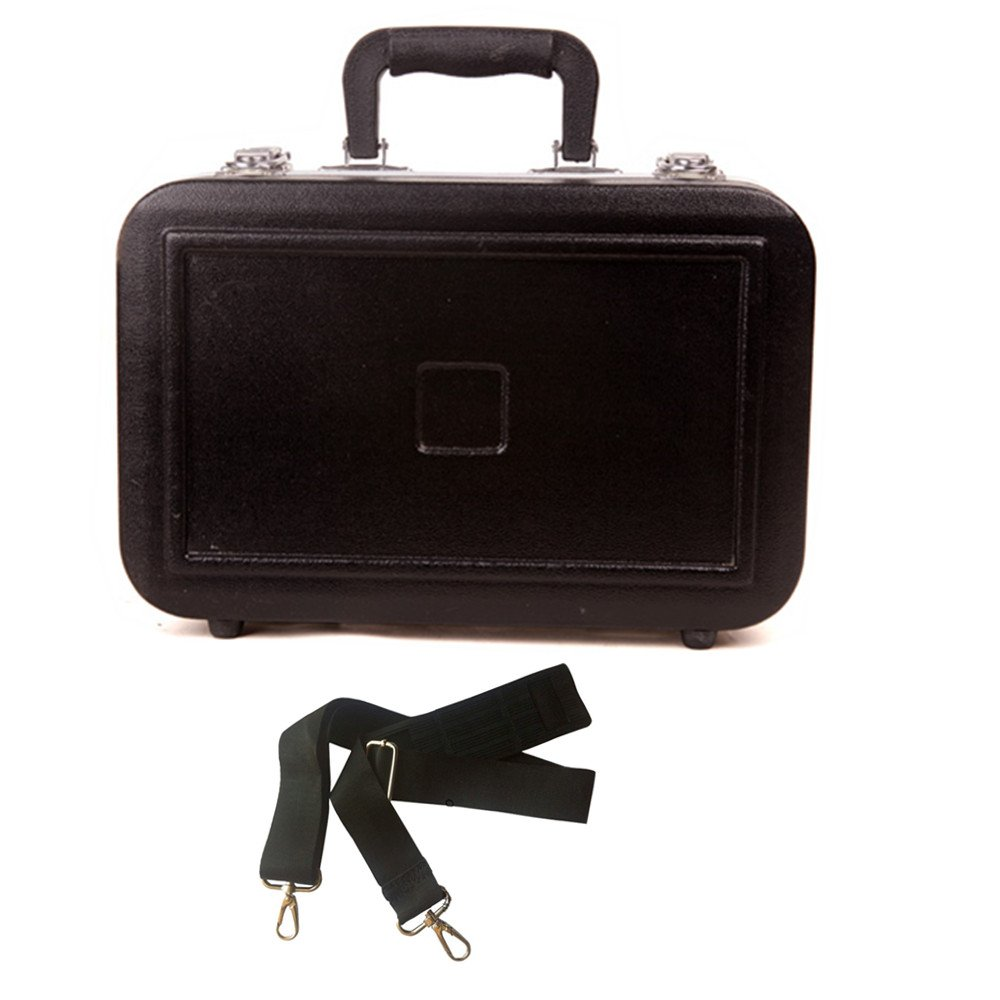 Deluxe B-flat Clarinet Hard Shell Case ABS Cover Black