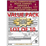 LOT OF 10 JJ KELLER 19-MP Med Exam Report, Certificate & Registry (2015 Update)