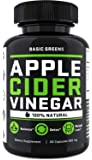 Apple Cider Vinegar Capsules - ACV Capsules Appetite Suppressant - Supplement for Women (60 Capsules) Formulated in USA   Non-GMO   Gluten Free by BASIC GREENS