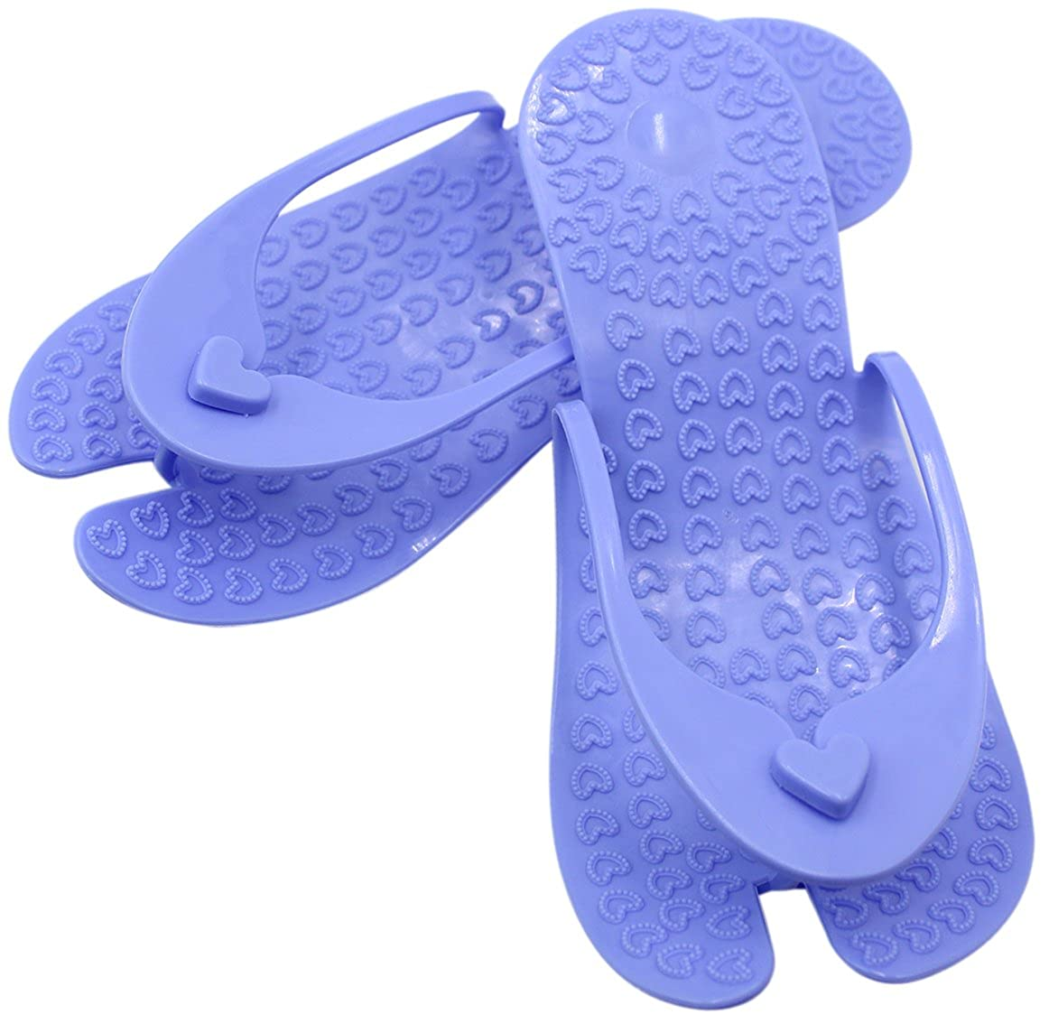 59d365a7f3ff1f Amazon.com  CC-US Portable   Foldable Foot Massage Slippers Non-Slip Flip- Flops Bathroom Shower Sandals for Travel Beach  Toys   Games