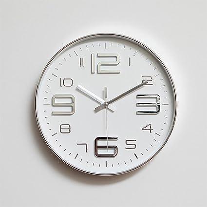 OLILEIO modernos relojes de pared simple salón Ronda cuadro fina decoración de hogar Reloj de pared