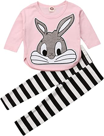 Toddler Kid Girls T-shirt Long Sleeve Tops Clothes Size1-12M