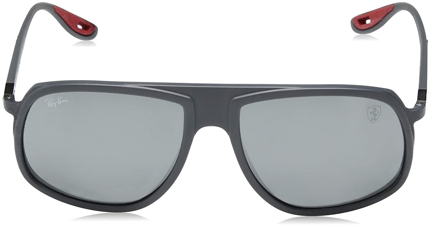 Amazon.com: Ray-Ban Mens 0rb4308m Iridium Square Sunglasses Matte ...
