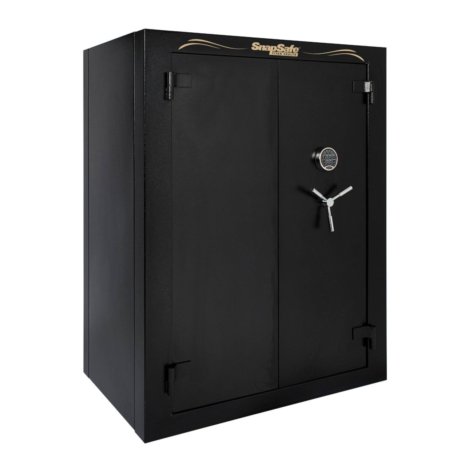 SnapSafe Super Titan Double Door Digital Modular Safe, 59'' H x 46'' W x 30'' D- Matte Black by SnapSafe