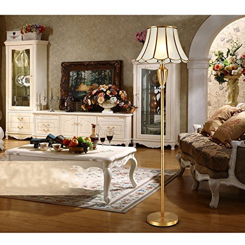 JNDFLP European Style Floor Lamp All Bronze American Style Living Room  Bedroom Study Table Lamp Modern Part 81