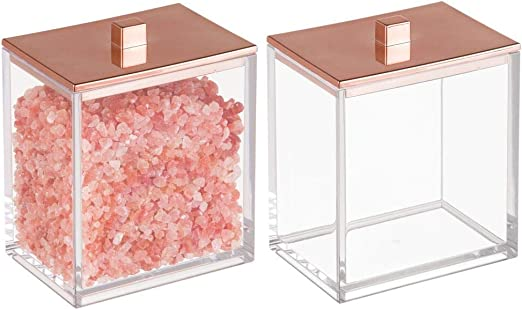 mDesign Juego de 2 envases para cosméticos – Dispensador de discos ...
