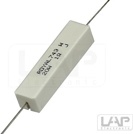 10x CRL5W-22K Widerstand Leistung Zement THT 22kΩ 5W ±5/% 9,5x9,5x22mm