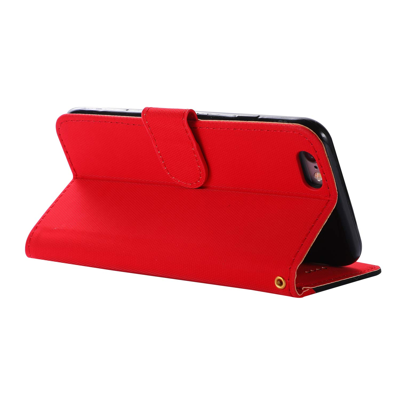 LOGHU040005 Schwarz Schutzh/ülle Brieftasche mit Kartenfach Klappbar Magnetverschluss Sto/ßfest Kratzfest Handyh/ülle Case f/ür Apple iPhone6S iPhone6 6 H/ülle Leder Lomogo iPhone 6S
