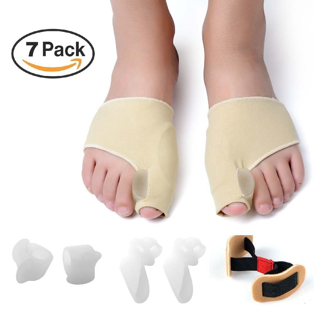 ZNYsmart Bunion Corrector and Bunion Relief Toe Separator Spacer Straightener Splint Pad Protector Sleeves Kit