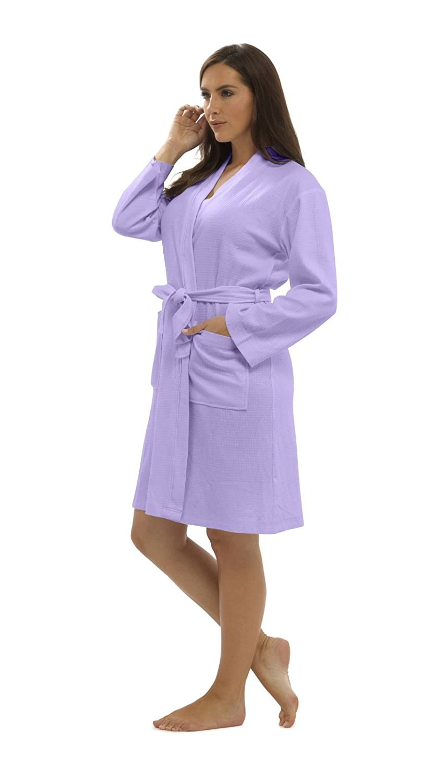 CityComfort Pure Cotton Dressing Gown Women Waffle Kimono Lightweight Ladies Robe