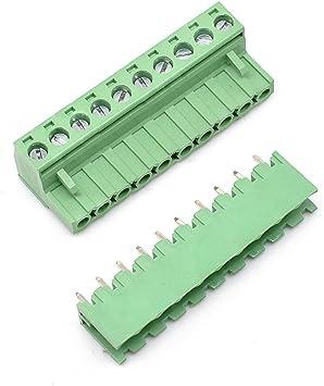 10 x 4-way Male PCB Screw Terminal Block 5.08mm