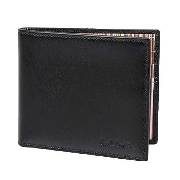 Paul Smith Men s Black Leather Billfold Wallet with Signature Stripes  Interior ANXA-1032-W731-B  Amazon.co.uk  Luggage 62e939544492b