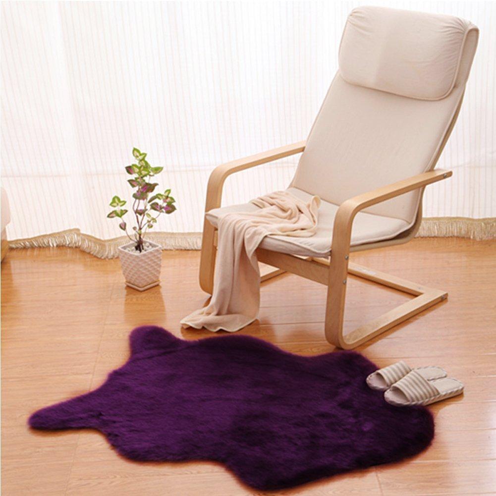 Grau Wohnzimmer oder /über Ihren Sessel oder Couch 60X90 CM Faux Fur Teppich White Shag Fuzzy Flauschigen Schaffell Kids Teppich mit Super Fluffy Thick als ein Bereich Teppich im Schlafzimmer