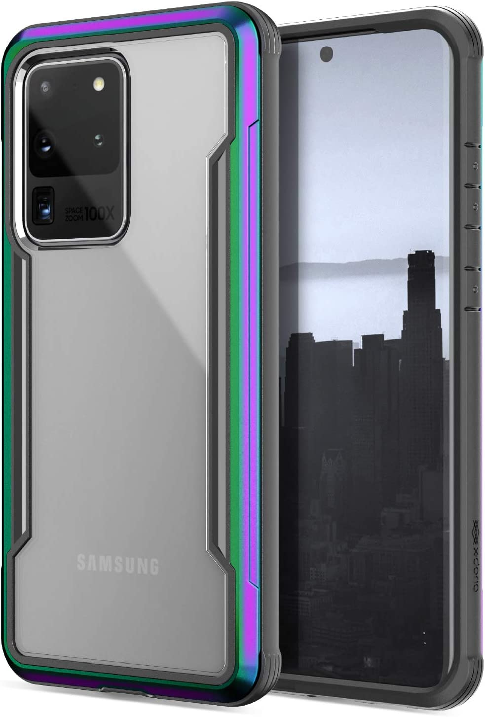 Defense Shield Series, Samsung Galaxy S11 (S20 Plus) Phone Case - Military Grade Drop Tested, Anodized Aluminum, TPU, and Polycarbonate Protective Case for Samsung Galaxy S11/S20 Plus, (Iridescent)