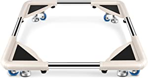 SPACECARE Mobile Roller with 4 Ajustable Leg Levelers Casters - Adjustable Moving Furniture Washer Dolly Washing Machine Stand Refrigerator Rolling Base Moving Cart, Capacity 300 Lbs