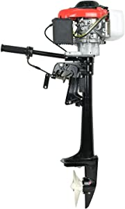 HOTSTORE 4 Stroke 4 HP Outboard Motor Boat Engine Propeller Boat with Air Colling System