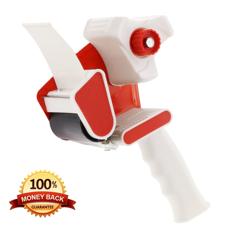 Heavy Duty Tape Gun Dispenser(HDTG) : BONUS 1 FREE Roll of Tape Quality Construction Industrial Design. Best Tape Gun For Moving, Home and Office Use.