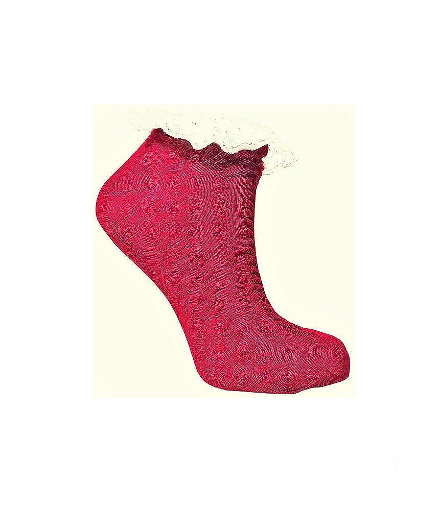 Peony Blue - Calcetines - para mujer Rojo granate Talla única: Amazon.es: Ropa y accesorios