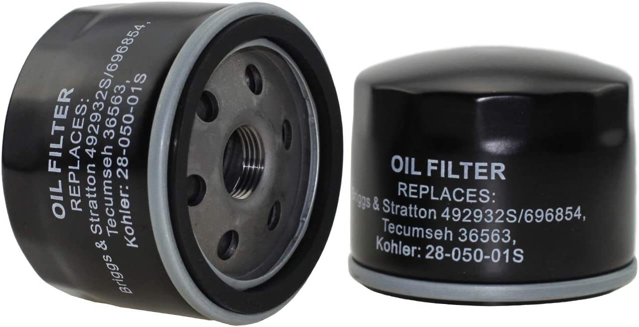 Parts Camp 492932S Oil Filter for Briggs & Stratton Engine Replace 7045184 Oil Filter 492932 Kawasaki 49065-7002 Fit Kohler 28-050-01S Stens 120-485: Garden & Outdoor
