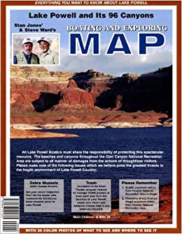 Lake Powell and Its 96 Canyons Boating and Exploring Map Stan Jones