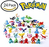 Pokemon Pikachu Monster Mini Plastic Figure (24 Piece) With Pikachu Guarantee