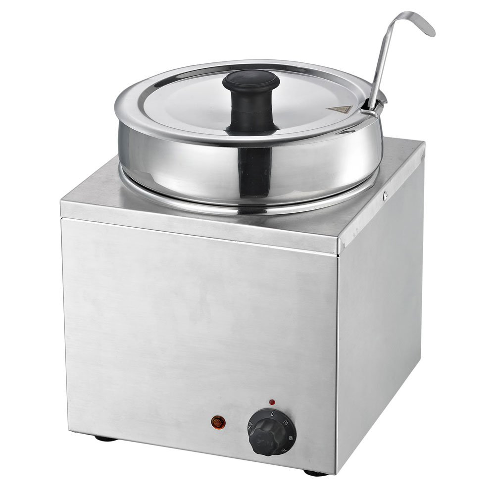 Chef's Supreme - 3.7 qt. Round Stainless Food Warmer w/ Insert and Lid