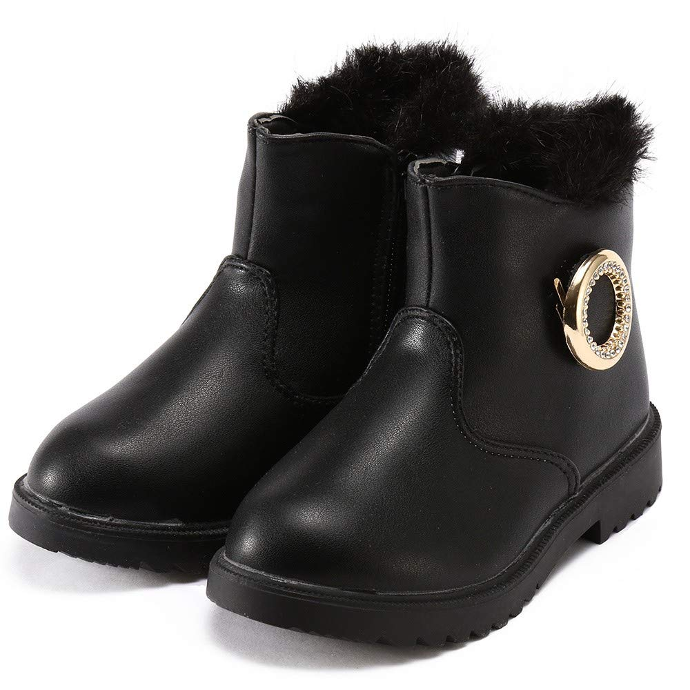 Winter Warm/ Kids Infant Baby Girls Matel Crystal Ankle Short Snow Boots Shoes Pandaie Baby Boy /& Girl Shoes