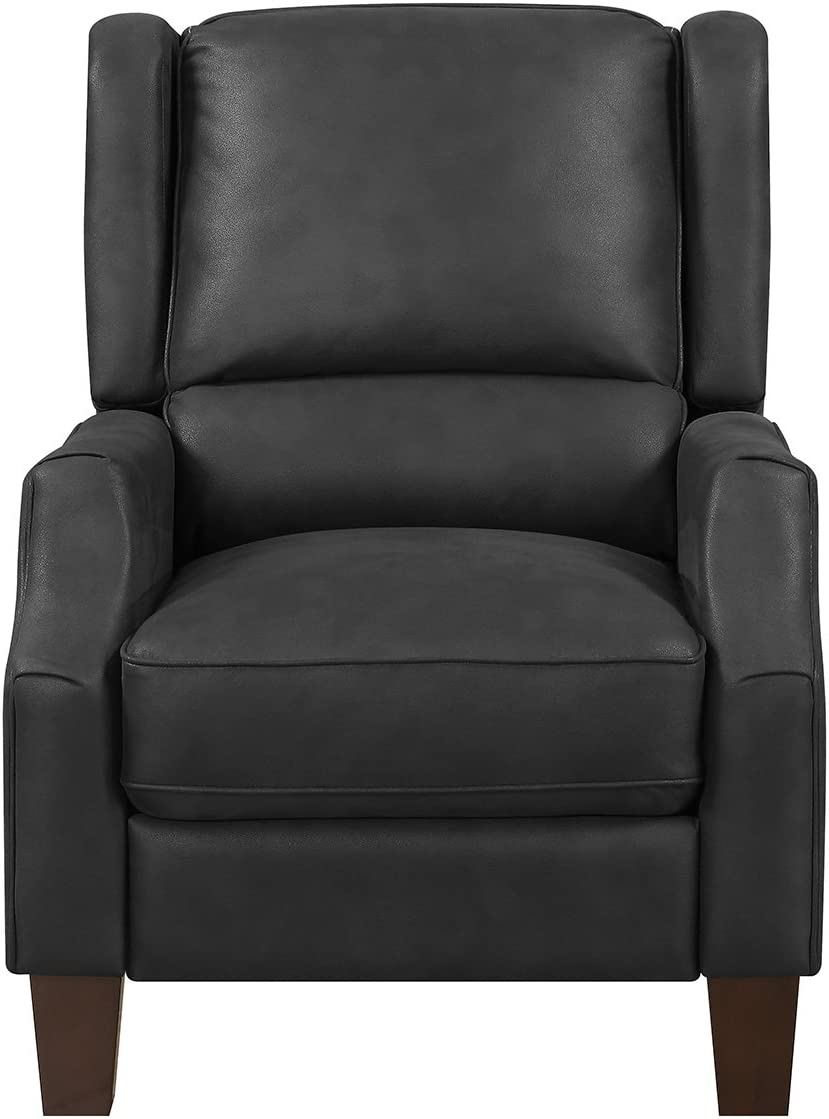 MorriSofa Juilian Press Back Recliner, Midnight Grey Color