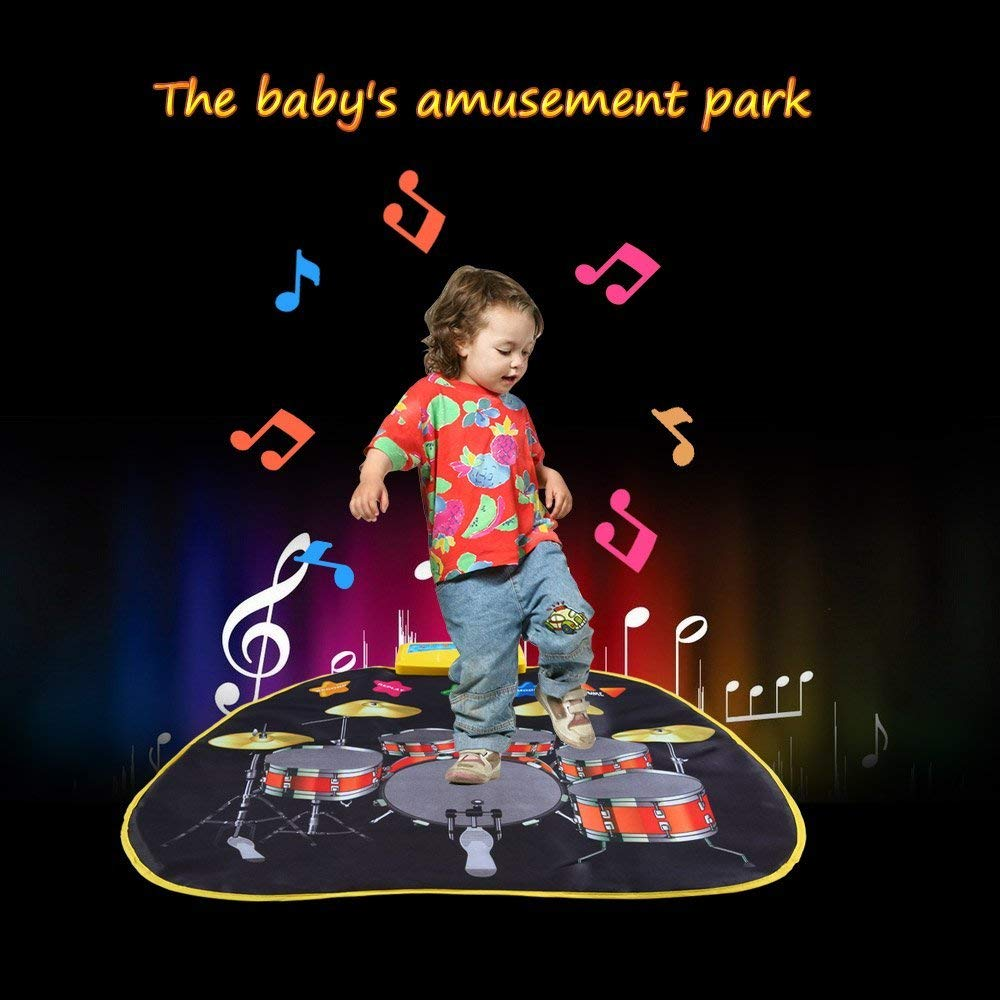 Electronic Musical Jazz Drum Mat Music Blanket Carpet Educational Toy Amazing Gifts for Boys & Girls and Baby Kids 72x62cmM by Mefashion (Image #7)