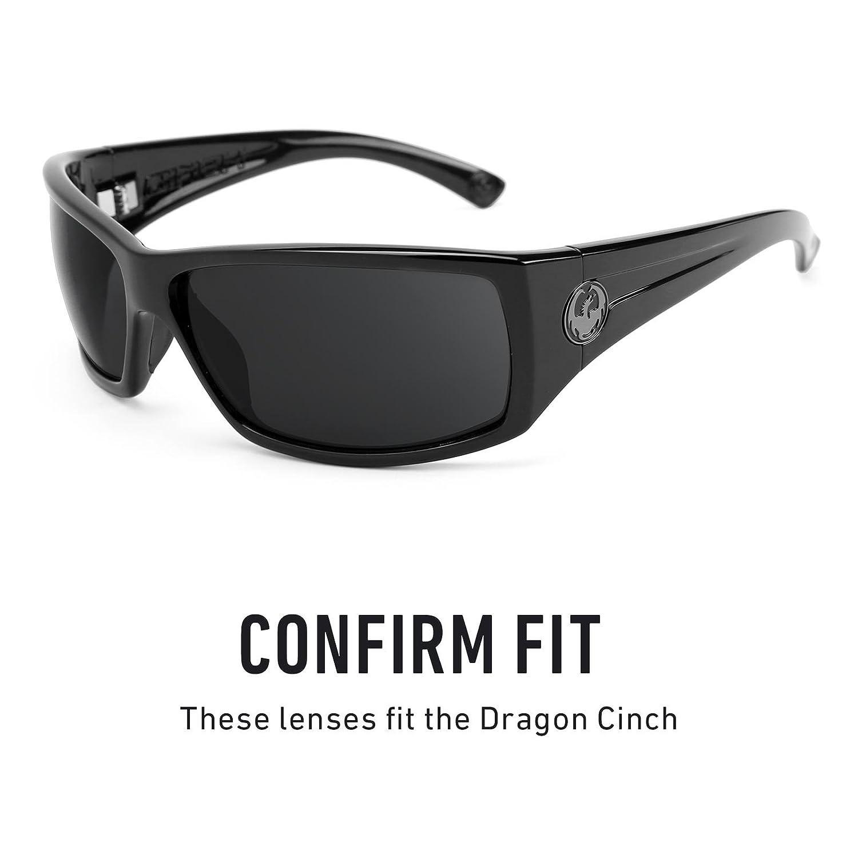 5d8d3515de6 Revant Polarized Replacement Lenses for Dragon Cinch Black Chrome  MirrorShield®  Amazon.co.uk  Clothing