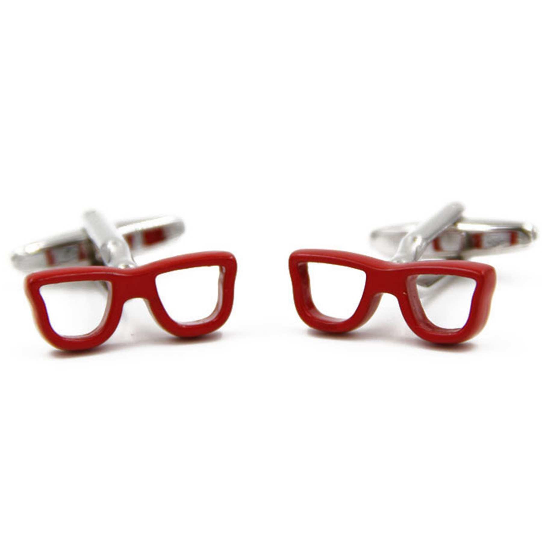 Graybird Funny Red Glasses Cufflinks Shirt Wedding Cufflinks for Men's French Shirt