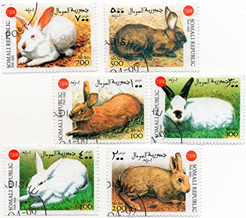 age Stamp Set 1999 Rabbit Issue 6 Stamps #1999R (1999 Rabbit)