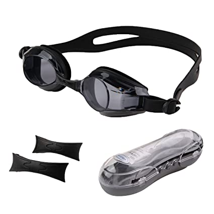 673deb747eb1 Amazon.com   Natuworld 1.5 2.0 2.5 3.0 3.5 4.0 Adult Swimming Goggles with Optical  Corrective Anti Fog and UV Protection Lenses - 6 Kinds of Diopter ...