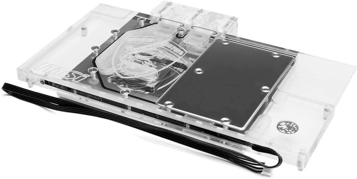 Bykski MSI GTX 1070/1080 Full Coverage GPU Water Block - Clear (N-MS1080GM-X)