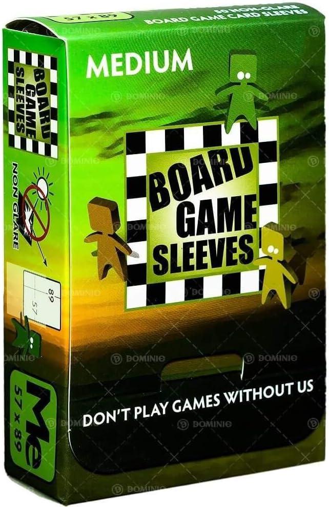 Medium - 50 Pcs Arcane Tinmen Board Games Sleeves 57x89mm Non-Glare