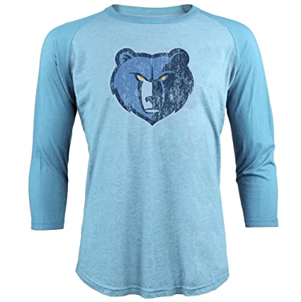 6ef6afdc2f2 Majestic Athletic NBA Memphis Grizzlies Men s Premium Triblend 3 4 Sleeve  Raglan