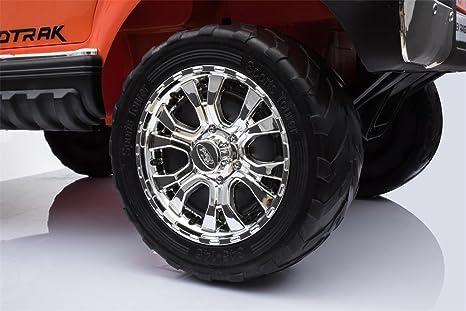LGVSHOPPING Auto Elettrica Jeep SUV Ford Ranger Luxury 12V Arancione Full Optional Con Telecomando