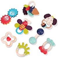 Nueplay Baby Rattle Teething Toys for Babies 6-12 Months Boys Girls Gifts Early Educational Shaking Bell Spin Rattle…