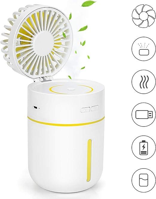 KONKY Ventilador USB Humidificador Ventilador Portatil Mini ...
