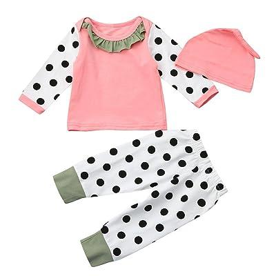 Lonshell Équipements de l'impression Tops+Pants de point de bébé réglés BC44 (100)