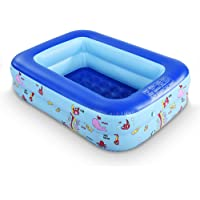 Inflatable Ocean Inflatable Pool with Inflatable Soft Floor, Folding Kids Pool Portable Swimming Pool for Home and…