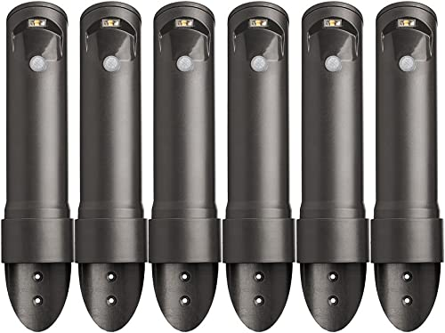 Mr. Beams MB566 Wireless Motion Sensor Activated Compact Led Path Light, 6-Pack, Black Brown
