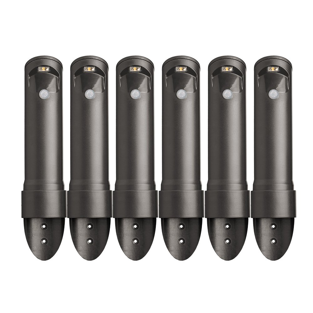Mr. Beams MB566 Wireless Motion Sensor Activated Compact Led Path Light, 6-Pack, Black Brown by Mr. Beams