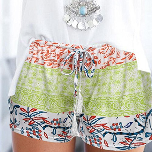 estivi a da casual Bohemian donna Donna ❤️shorts Amlaiworld Pantaloncini alta Pantaloncini sexy hot verde vita q8BWHPw
