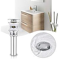 BONADE Desagüe para lavabo con rebosadero, válvula de desagüe Pop-Up Click Clack para lavabos y lavabos, sifón de…