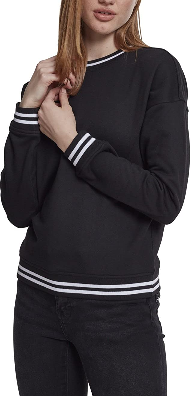 TALLA S. Urban Classic Ladies College Sweat Crew Jersey para Mujer