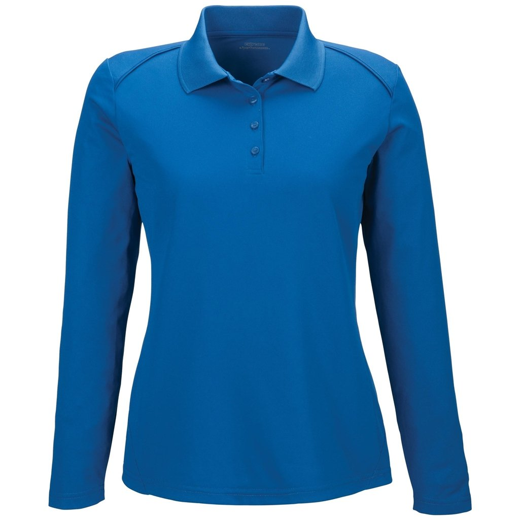 Ash City Ladies Armour Long Sleeve Polo (XXX-Large, True Royal) by Ash City Apparel