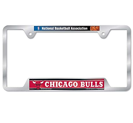 Amazon.com : NBA Chicago Bulls Metal License Plate Frame : Sports ...