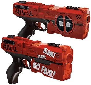 Deadpool Nerf Rival Kronos XVIII-500 Blaster 2-Pack - Red and Black: Amazon.es: Juguetes y juegos